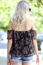 Load image into Gallery viewer, Boho Floral Off Shoulder Top