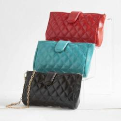 Quilted Leather Cell Phone/Wallet