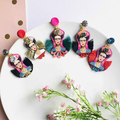 Handmade Frida Statement Earrings
