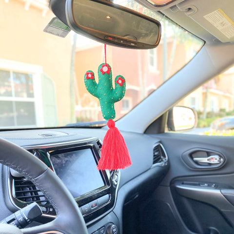 Cactus Car Charm for Rearview Mirror