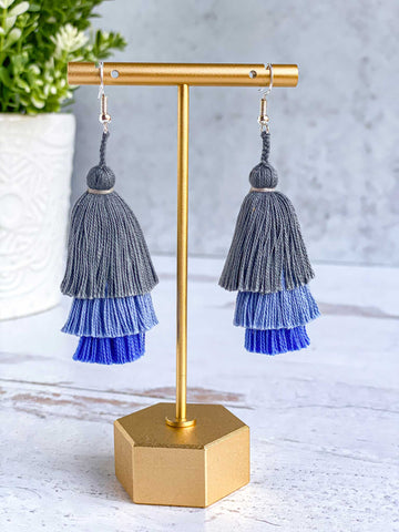 Tiered Tassel Earrings - Nube