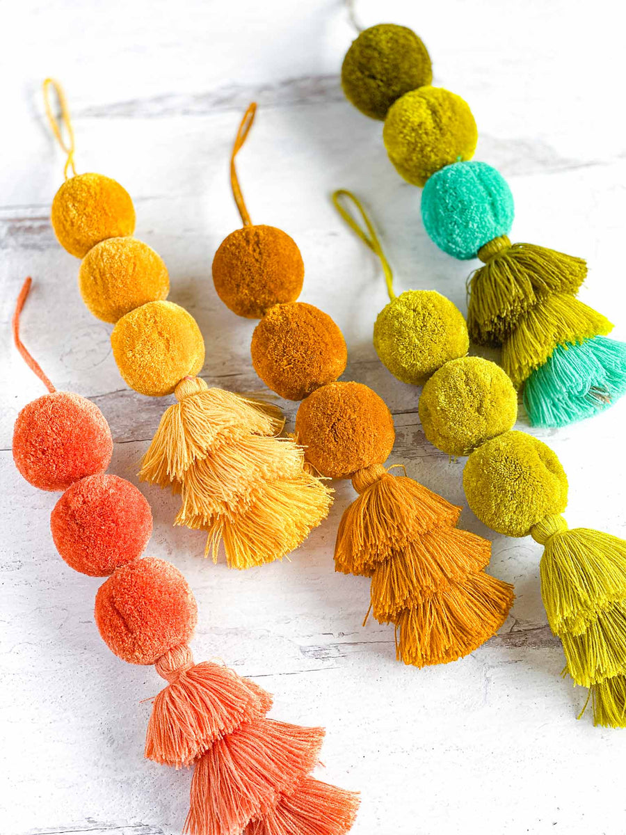 Triple Scoop Pom-Tassels