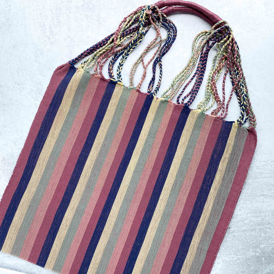 Handwoven-Loom-Tote-Bag-in-Navy-with Stripes