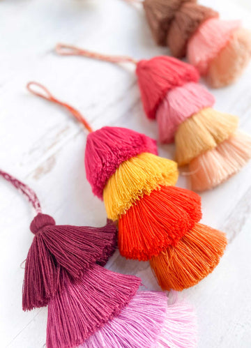 Large Multi-Tiered Tassels