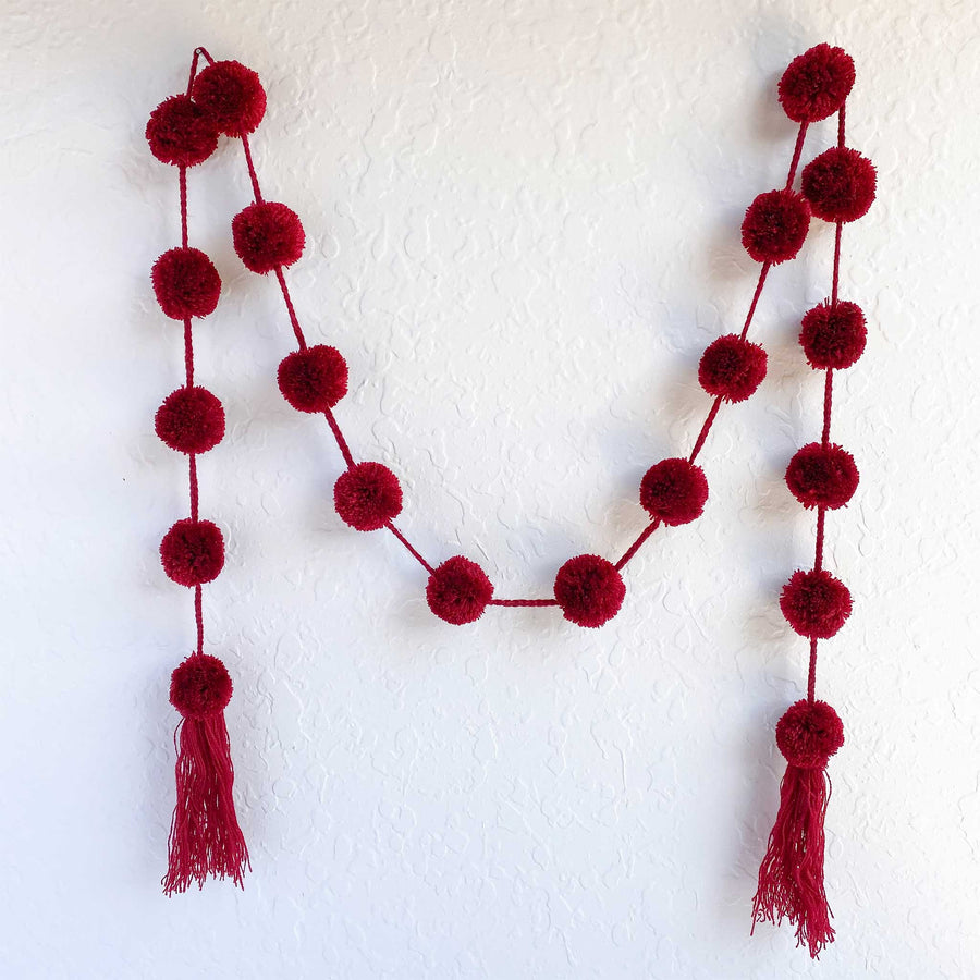 Holiday Pom Garlands (Set of 3)
