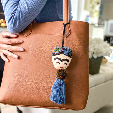 Limited Edition Embroidered Frida Pom-Tassels - Fall