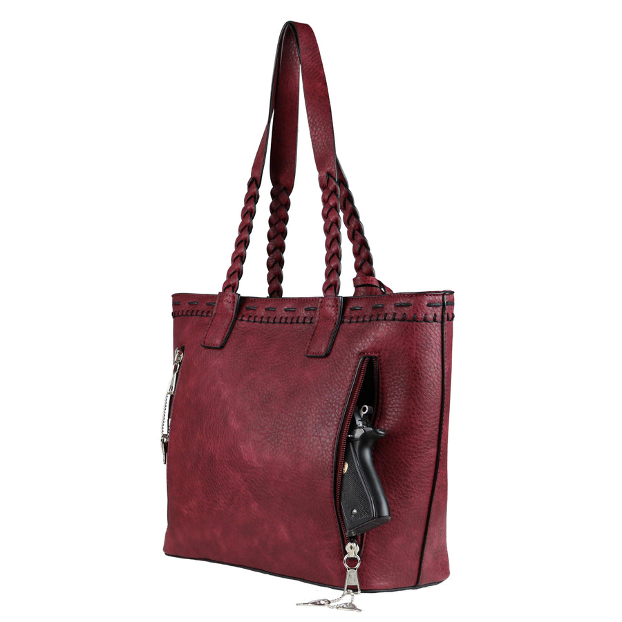 Concealed Carry Sophia Stitched Tote by Lady Conceal