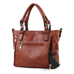 Concealed Carry Ella Braided Tote by Lady Conceal, Mahogany