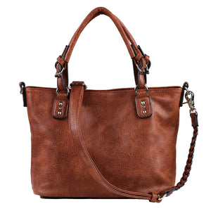 Concealed Carry Ella Braided Tote by Lady Conceal