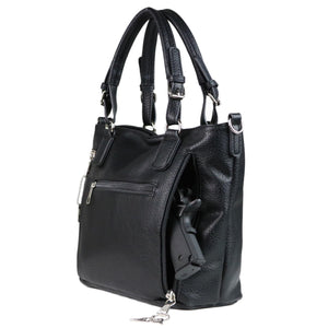 Concealed Carry Ella Braided Tote by Lady Conceal, Black
