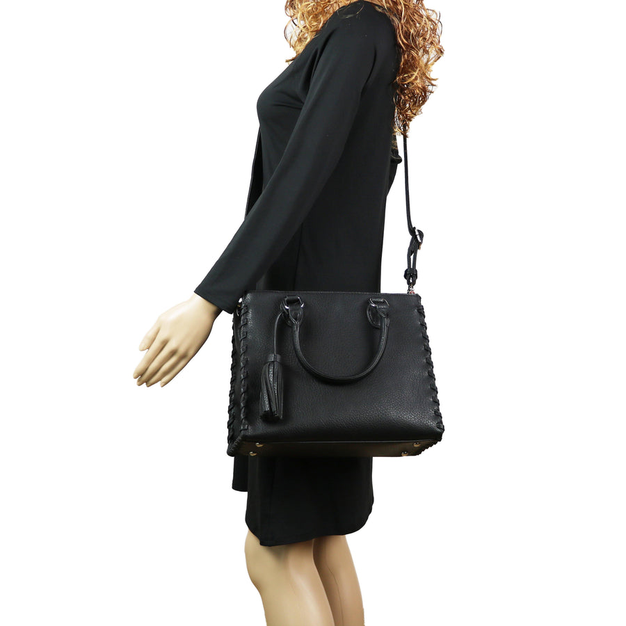 Concealed Carry Purse - Locking Laced Ann Satchel by Lady Conceal
