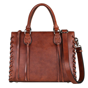 Concealed Carry Emma Leather Satchel by Lady Conceal