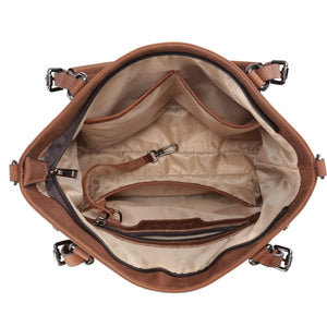 Concealed Carry Bailey Leather Satchel by Lady Conceal