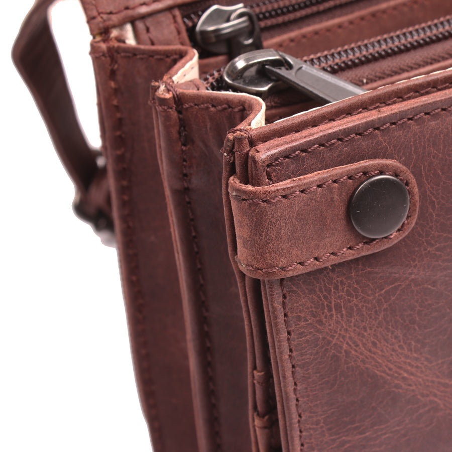 Concealed Carry Jolene Leather Crossbody Organizer