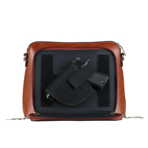 Concealed Carry Evelyn Leather Crossbody Organizer by Lady Conceal