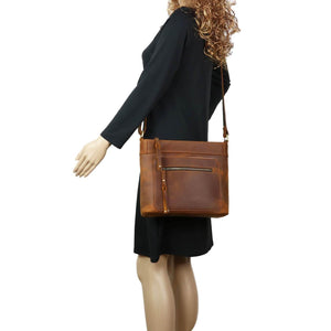 Concealed Carry Delaney Leather Crossbody by Lady Conceal