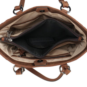 Concealed Carry Maddie Leather Tote by Lady Conceal
