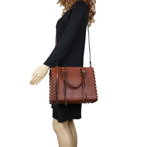 Concealed Carry Emma Leather Satchel by Lady Conceal - Lady Conceal