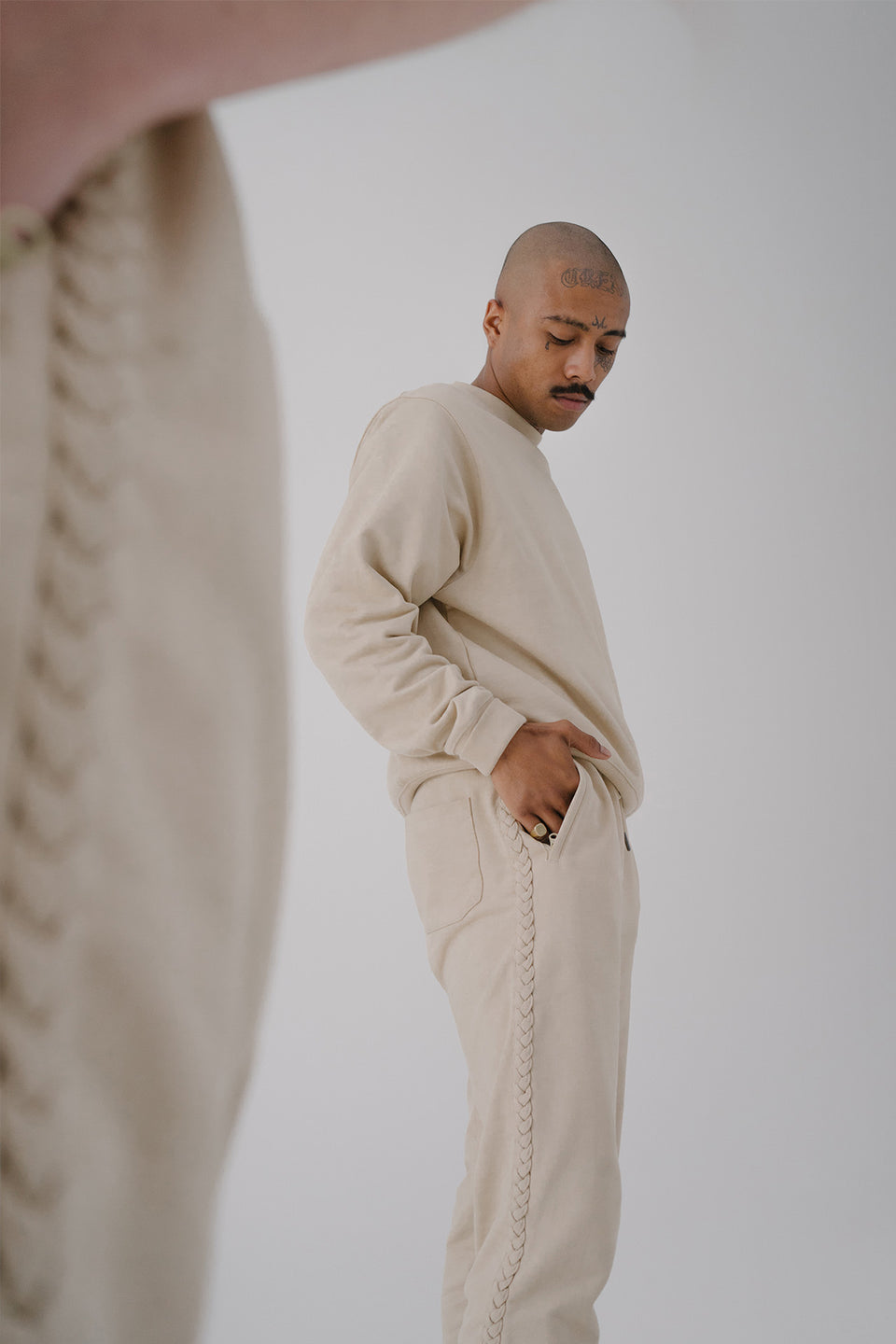 Braided Sweatpants Sand