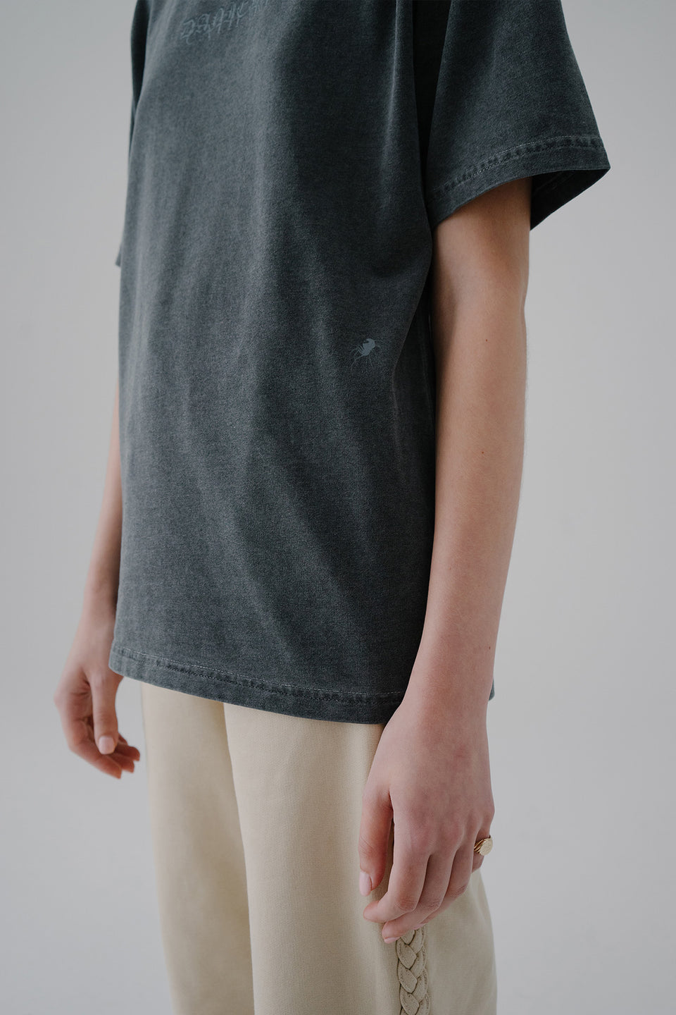 Duo Logo Tee Anthracite