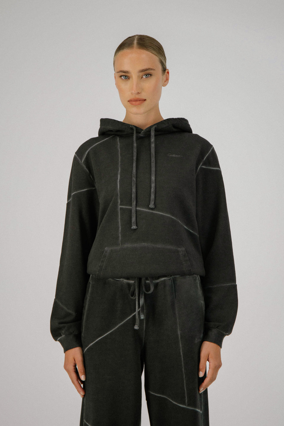 Deconstructed Hoodie Charcoal