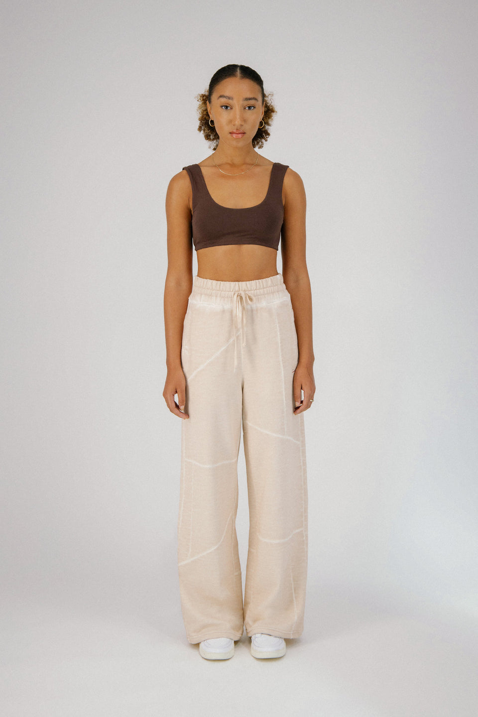 Deconstructed Lounge Pants Pale Beige