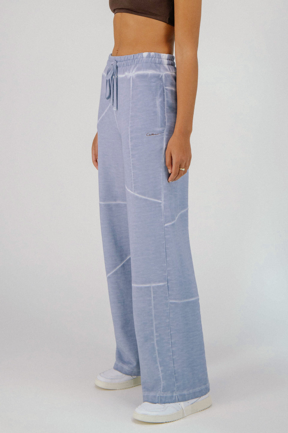 Deconstructed Lounge Pants Cool Blue
