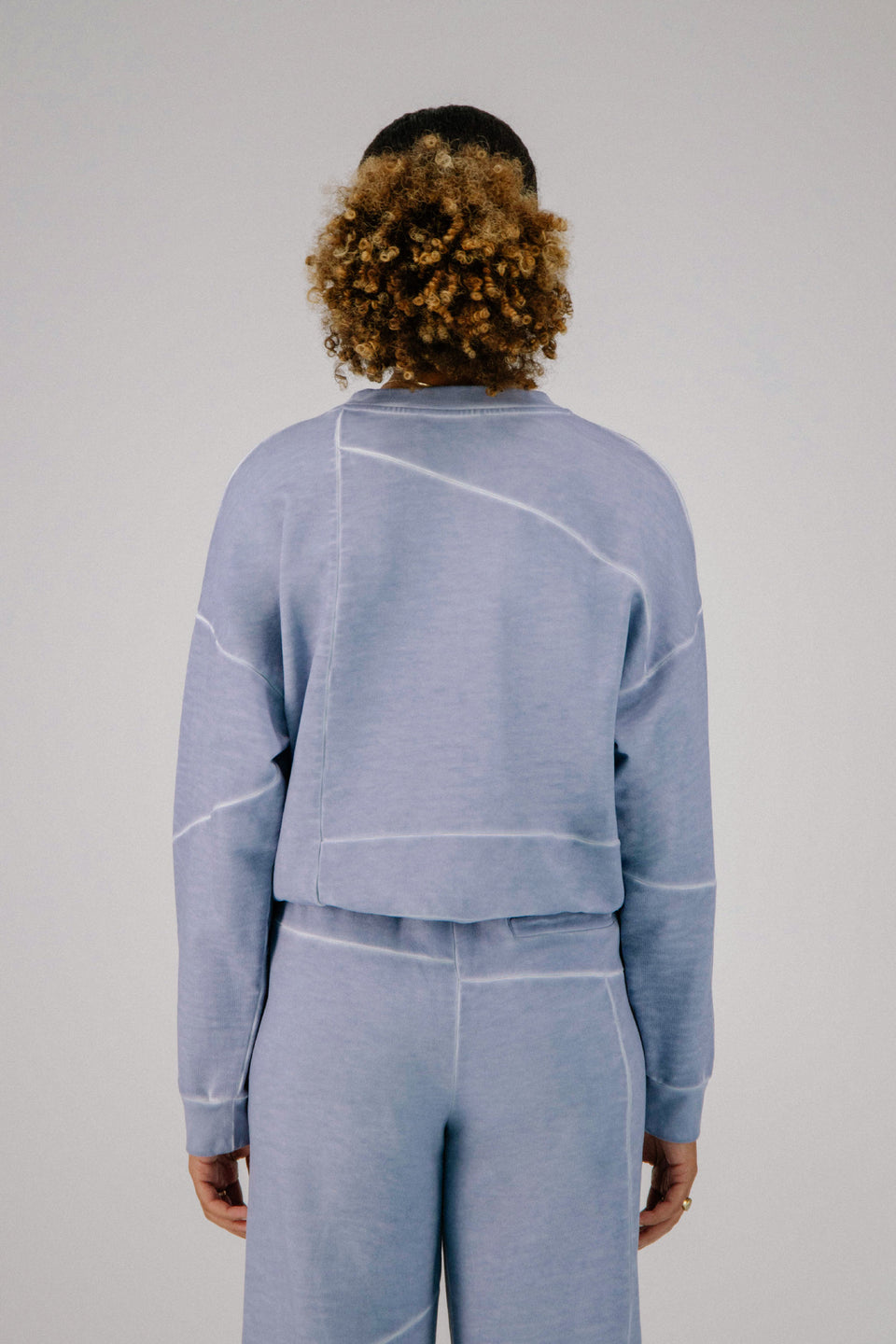 Deconstructed Crewneck Cool Blue