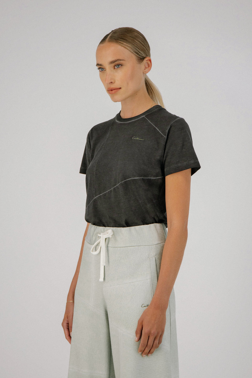 Deconstructed Tee Charcoal
