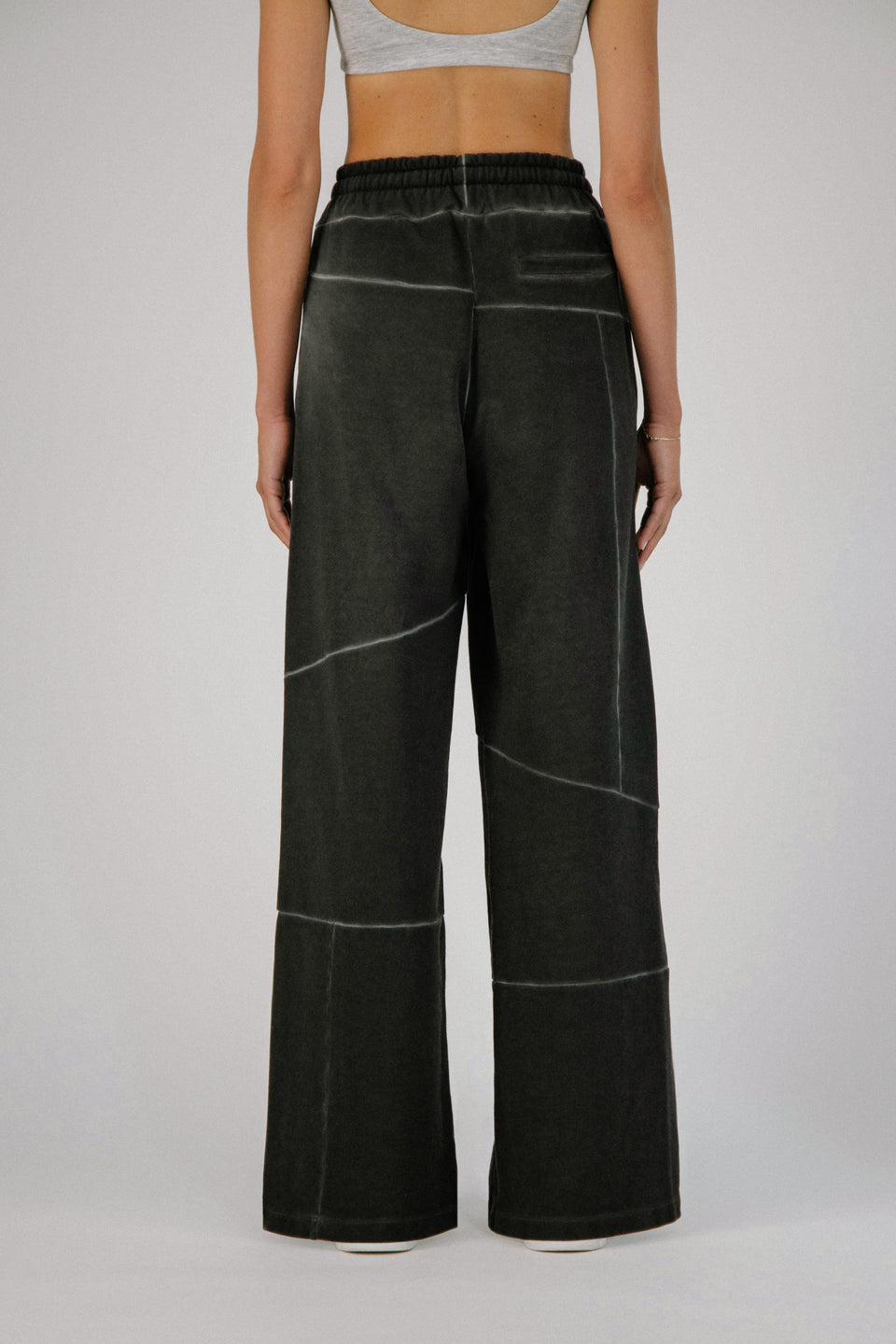 Deconstructed Lounge Pants Charcoal
