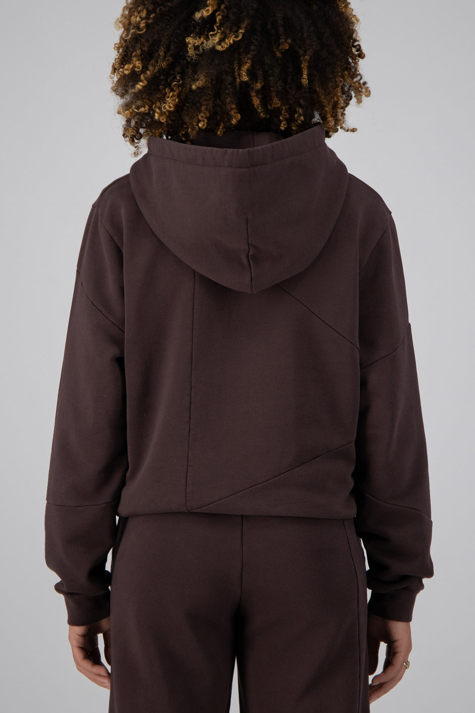Deconstructed Hoodie Mid-Century Brown