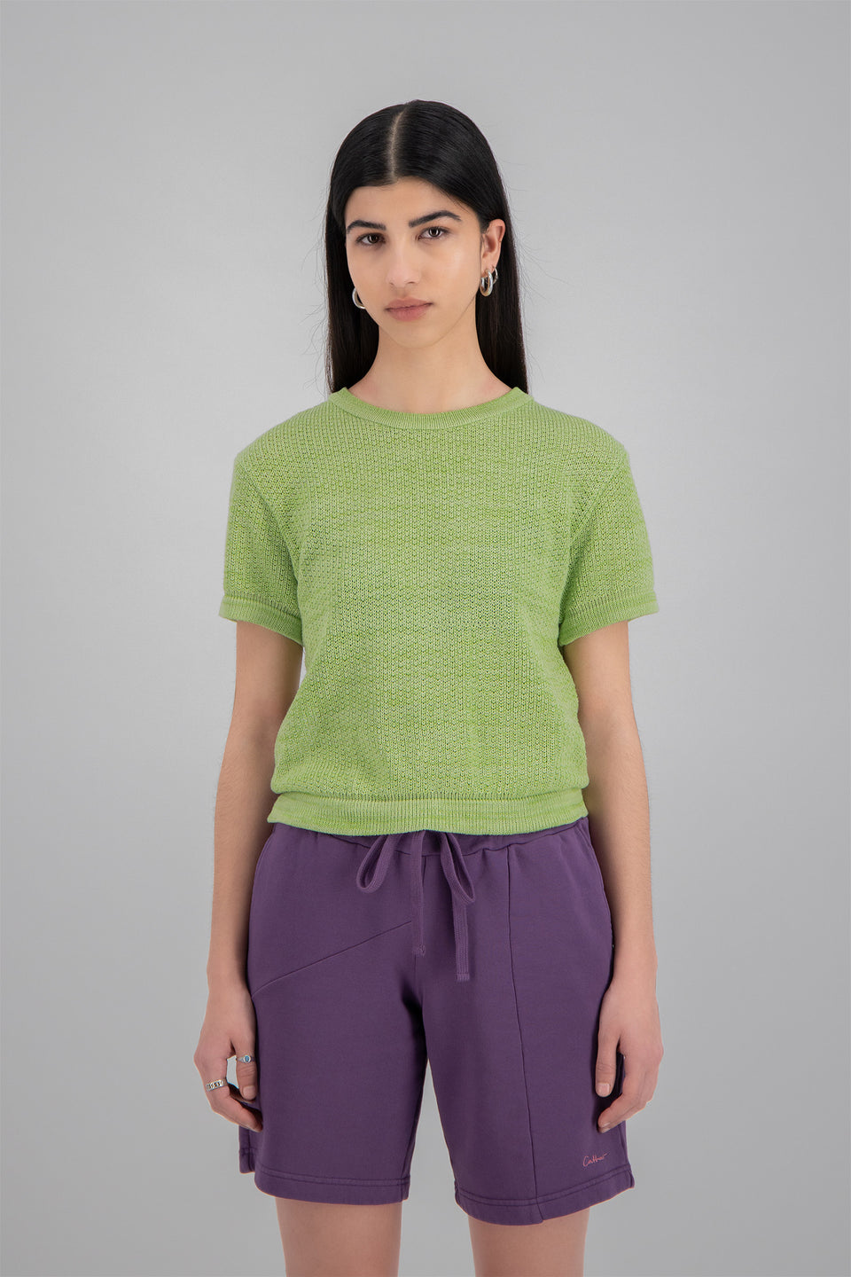 Open Back Knit Top Lime Sorbet