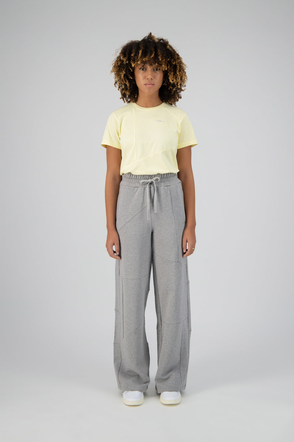 Deconstructed Lounge Pants Grey Melange