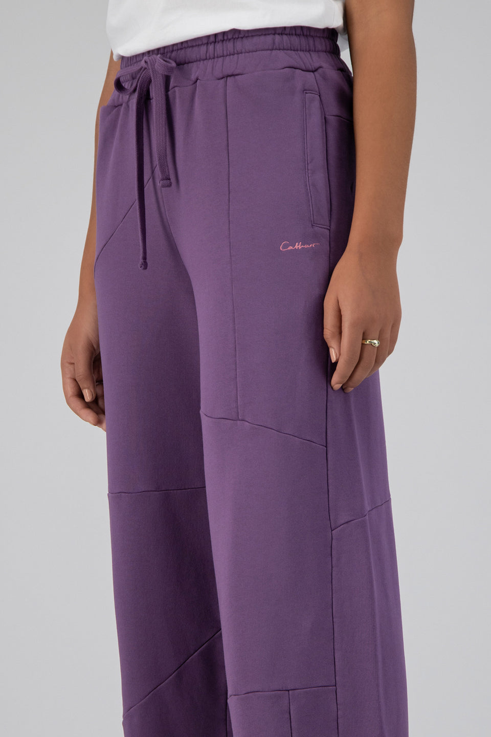 Deconstructed Lounge Pants Plum