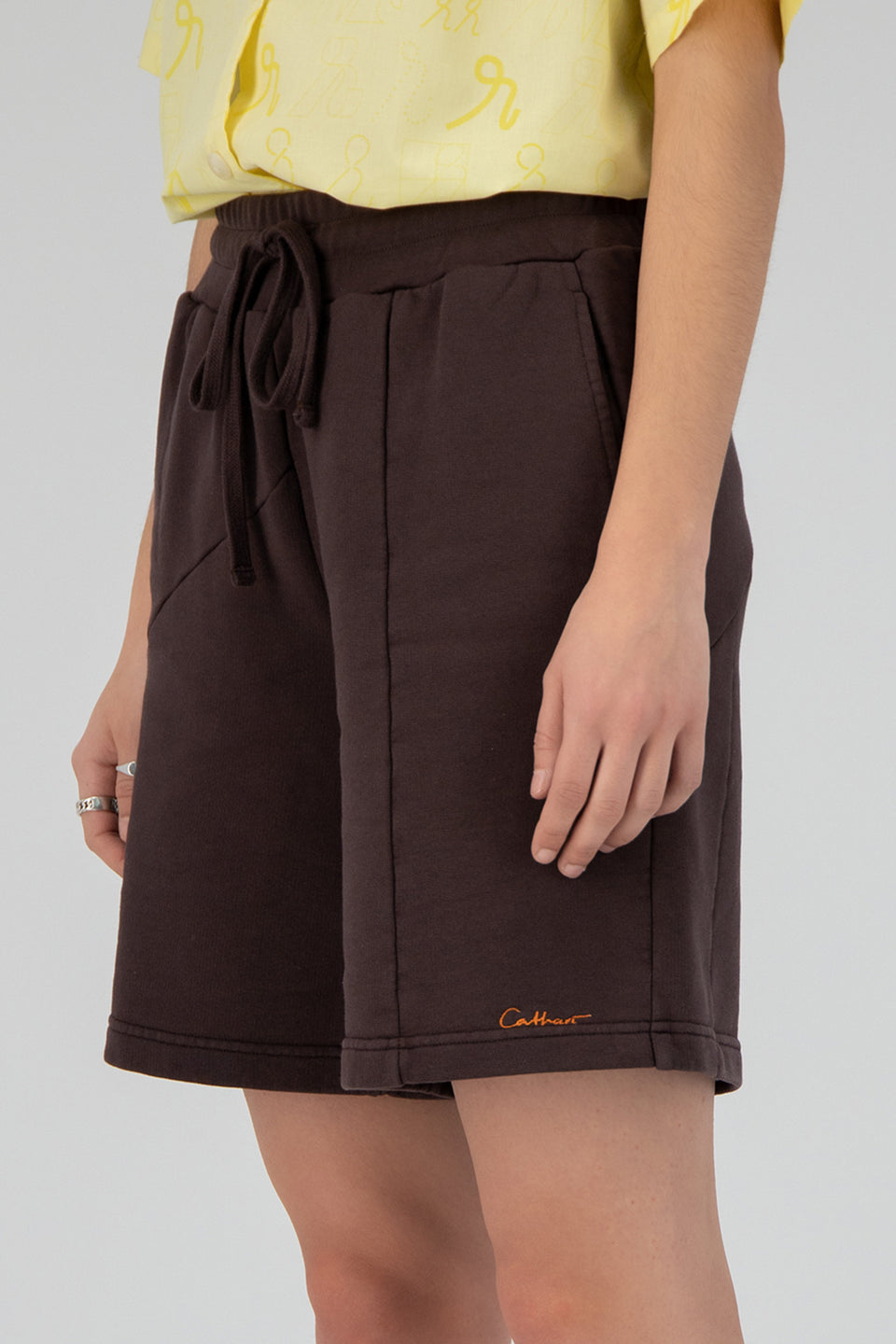 Deconstructed Terry Shorts Mid-Century Brown