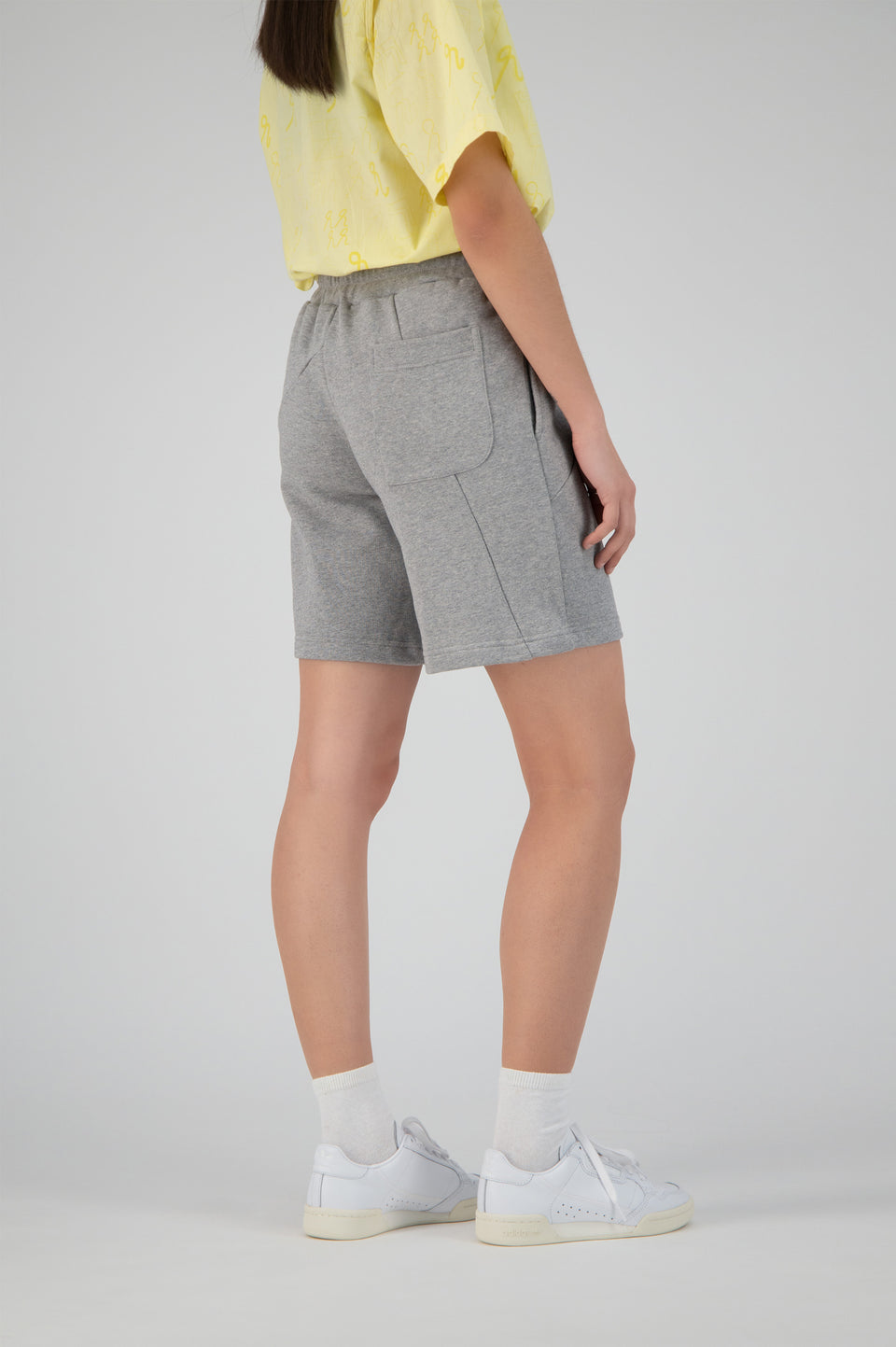 Deconstructed Terry Shorts Grey Melange