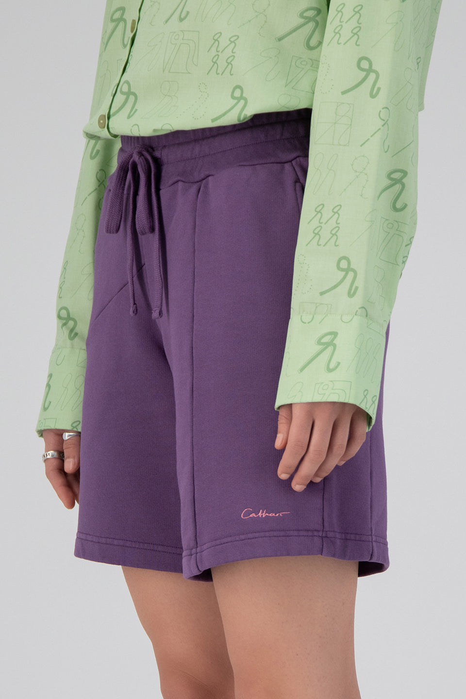 Deconstructed Terry Shorts Plum