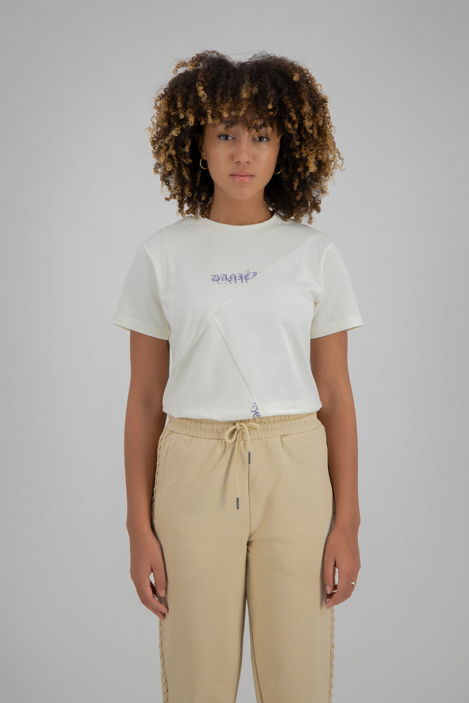 Deconstructed Duo Logo Tee Marshmallow