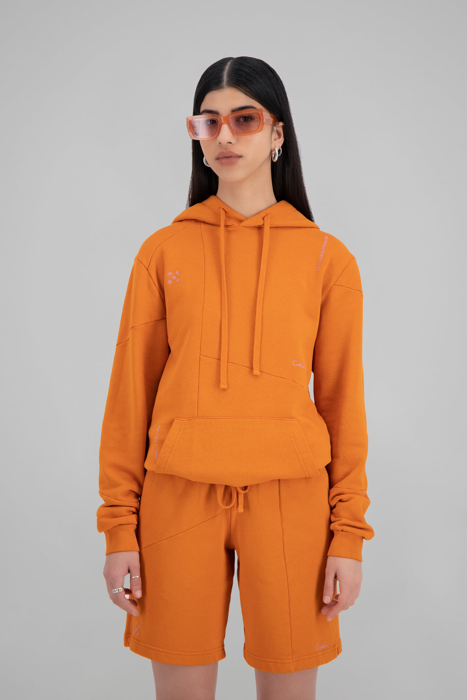 RSFxDC Decontructed Hoodie Rusty Orange