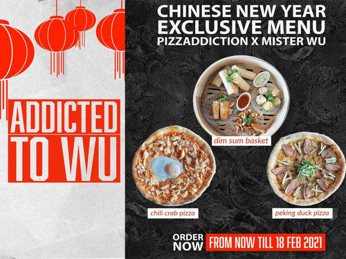 Mister Wu Dim Sum Delivery MisterWu X Pizzaddiction 3-in-1 CNY Combo Set