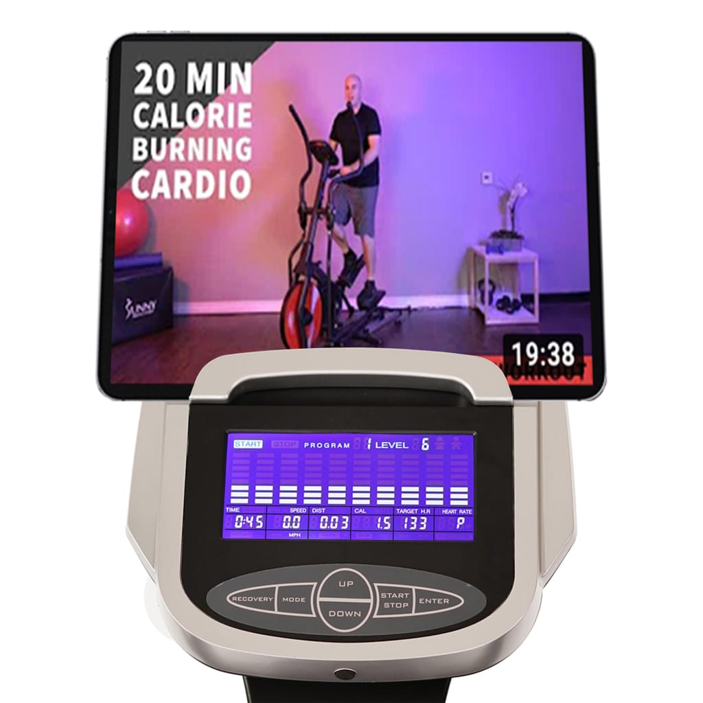 sunny-health-fitness-ellipticals-magnetic-elliptical-machine-device-holder-programmable-monitor-hear-rate-SF-E3912-device-holder