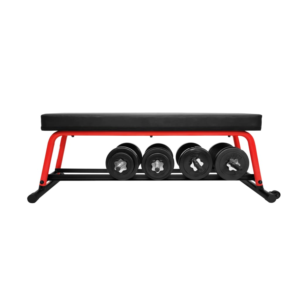 sunny-health-fitness-strength-power-zone-strength-flat-bench-SF-BH6996-weigth-rack