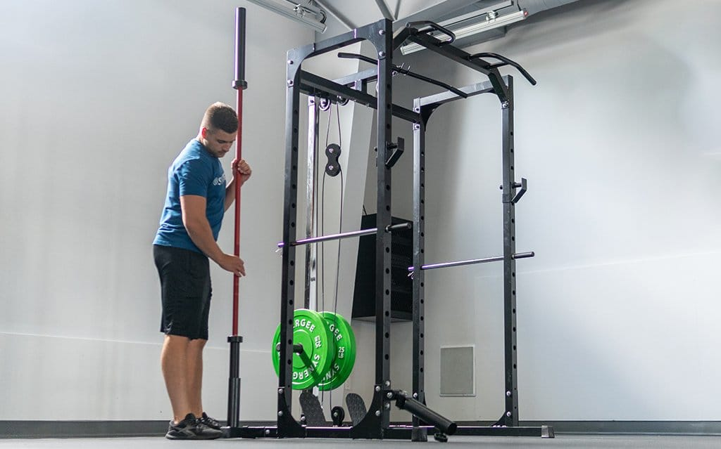Synergee Power Squat Rack with Pulley System