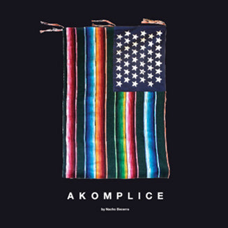 Akomplice Mi Bandera Flag Graphic on black background