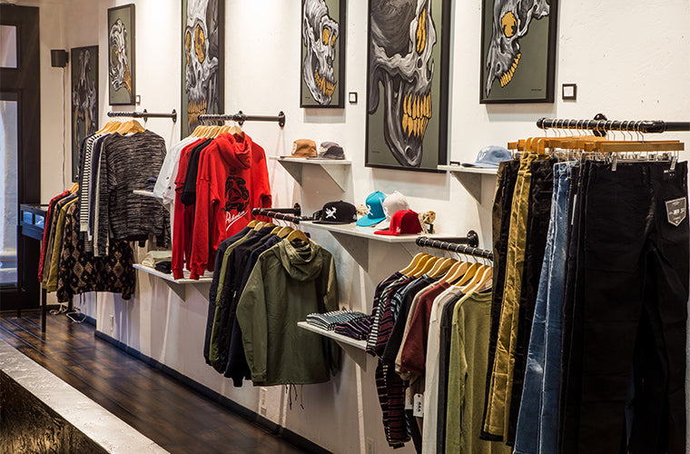 Streetwear Clothing Displays