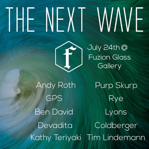 The Next Wave Show Flyer with Artists Names Listed.