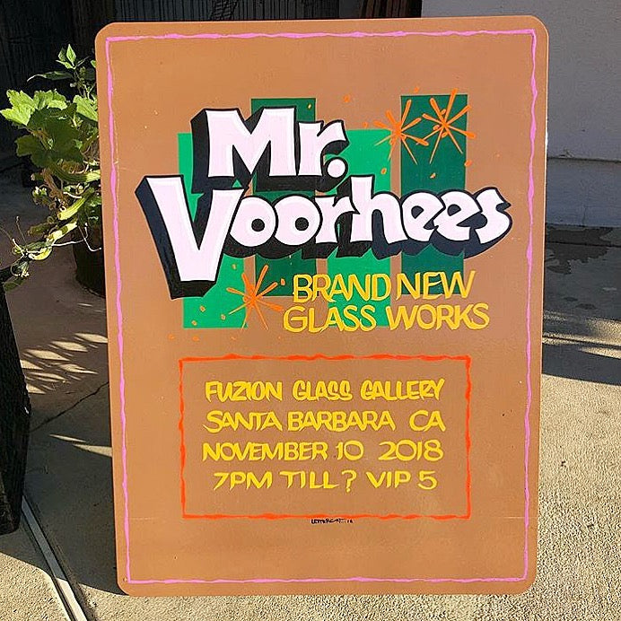 Mr. Voorhees Hand Painted Show Sign