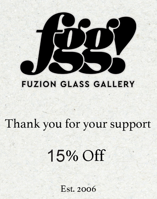 Fuzion Logo with 15% off discount offer, est. 2006, and thanks for your support