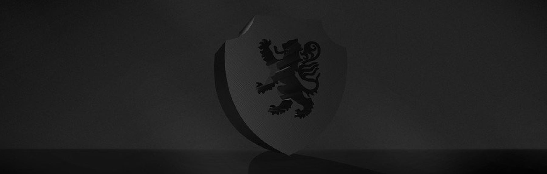 Home Page Fuzion Banner with Shield/Rampant Lion