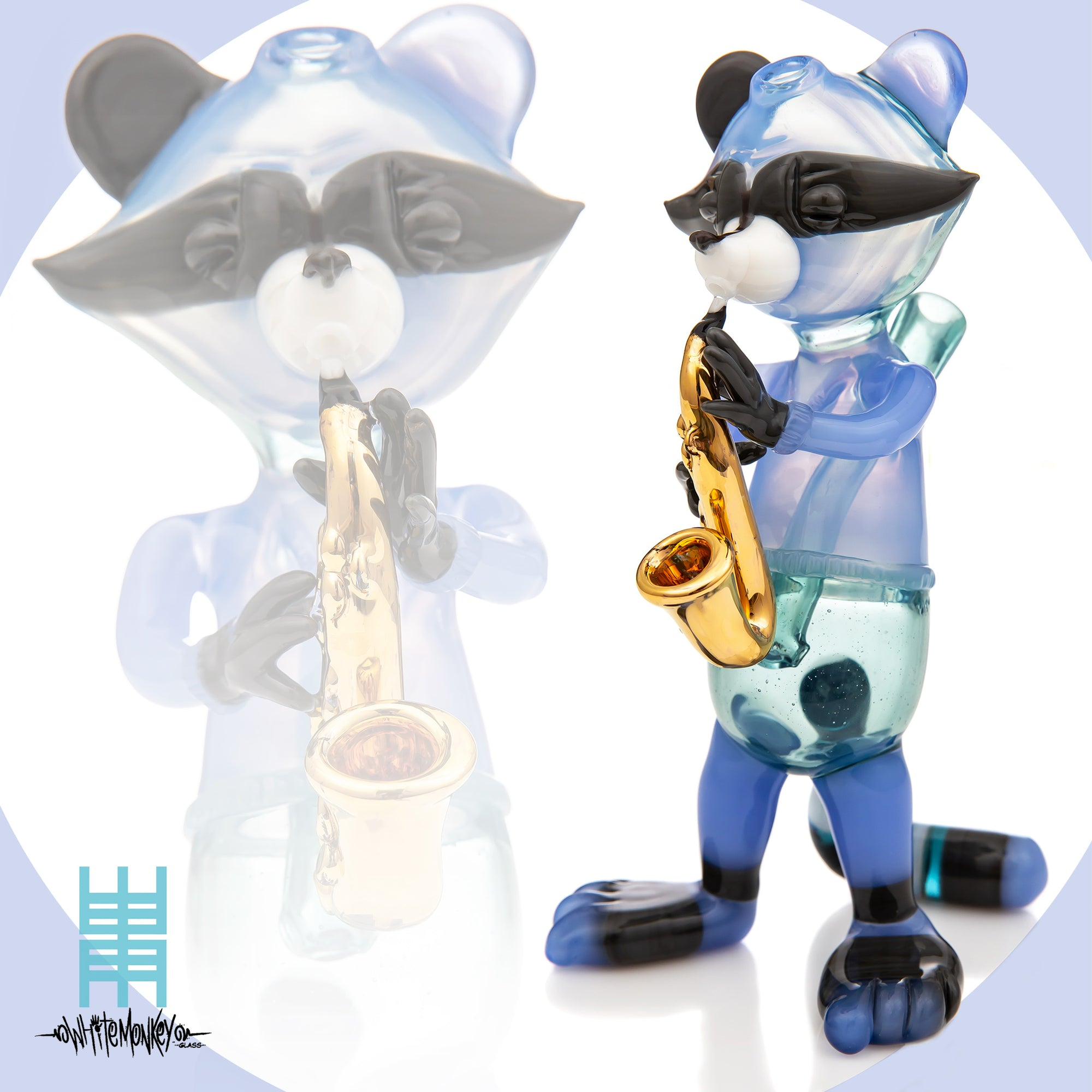 Heady Glass Trash Panda Saxophone Player